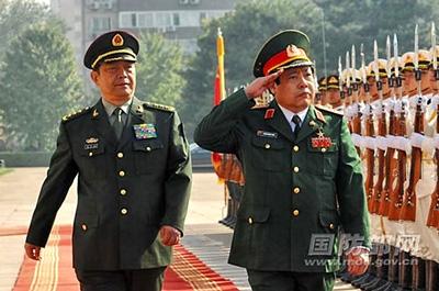 Bộ trưởng Quốc phòng Việt Nam Phùng Quang Thanh thăm Trung Quốc (nguồn mạng Bộ Quốc phòng TQ)
