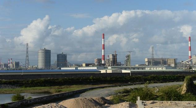 Một phần nhà máy thép Formosa của Đài Loan tại huyện Kỳ Anh, tỉnh Hà Tĩnh hôm 4/12/2015.