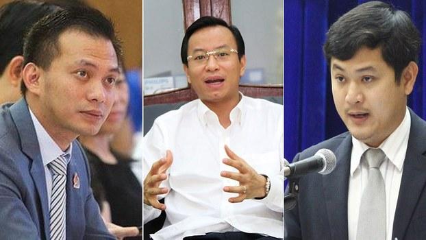 Nguyễn Bá Cảnh (trái), Nguyễn Xuân Anh (giữa) và Lê Phước Hoài Bảo (trái).