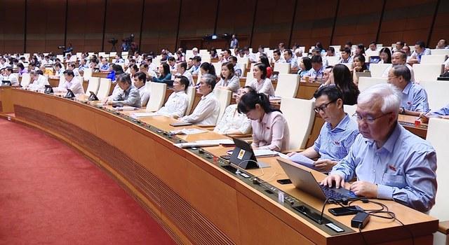 Hình ảnh cuộc họp Quốc hội.