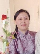 Bà Dương Thị Tân, vợ cũ của blogger Điếu Cày, tức nhà báo Nguyễn Văn Hải. RFA file