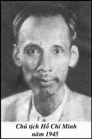 Ông Hồ Chí Minh năm 1945 (files photos)