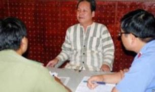 Ông Đinh Đăng Định, tại cơ quan điều tra hồi đầu năm 2012.