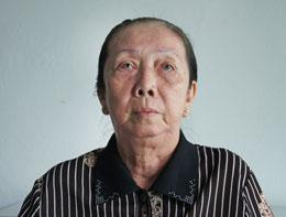 Ảnh mới nhất của bà Vương Thị Viếng gởi cho RFA (tháng7/2012)