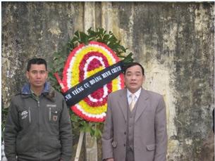 Ông Vi Đức Hồi (phải) và Nguyễn Bá Đăng, ảnh chụp trước đây. Source ddcnd.org