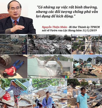 Ông Nguyễn Thiện Nhân, đại diện Chính quyền TP.HCM lên tiếng về vụ cưỡng chế vườn rau Lộc Hưng.