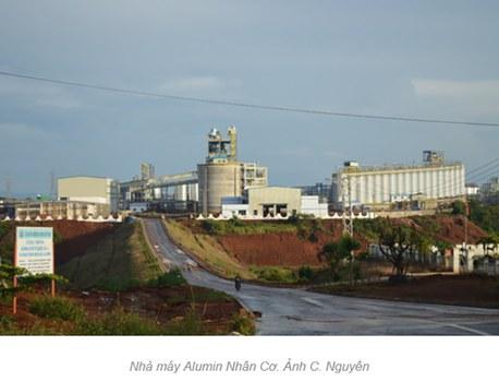 Nhà máy Alumin Nhân Cơ ở Đắk Nông bị xảy ra sự cố tràn hóa chất vào cuối tháng 7/2016.