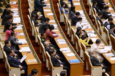 Các đại biểu tham dự lễ khai mạc kỳ họp Quốc hội tại Hà Nội ngày 22 tháng 5 năm 2017.