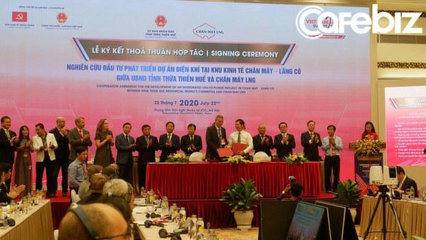 Ảnh minh họa. Quang cảnh ký kết dự án Nhà máy điện khí LNG Chân Mây, trị giá 6 tỷ USD, vào sáng ngày 22/7/2020.