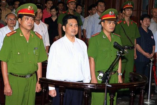 Hình minh hoạ. Hình của TTXVN công bố hôm 2/8/2011: phiên toà xử Tiến sĩ luật Cù Huy Hà Vũ ở Hà Nội hôm 2/8/2010