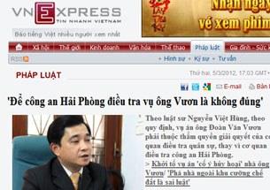 Luật sư Nguyễn Việt Hùng người bào chữa cho gia đình anh Vươn