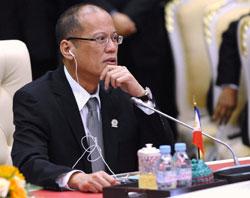 Tổng thống Philippines Benigno Aquino tại Hội nghị thượng đỉnh ASEAN lần 20 tại Campuchia. AFP 4 tháng 4,2012