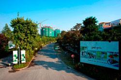 Đường vào khu dự án Ecopark. Photo courtesy of bdstot.com