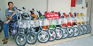 Một cửa hàng bán xe đạp điện
