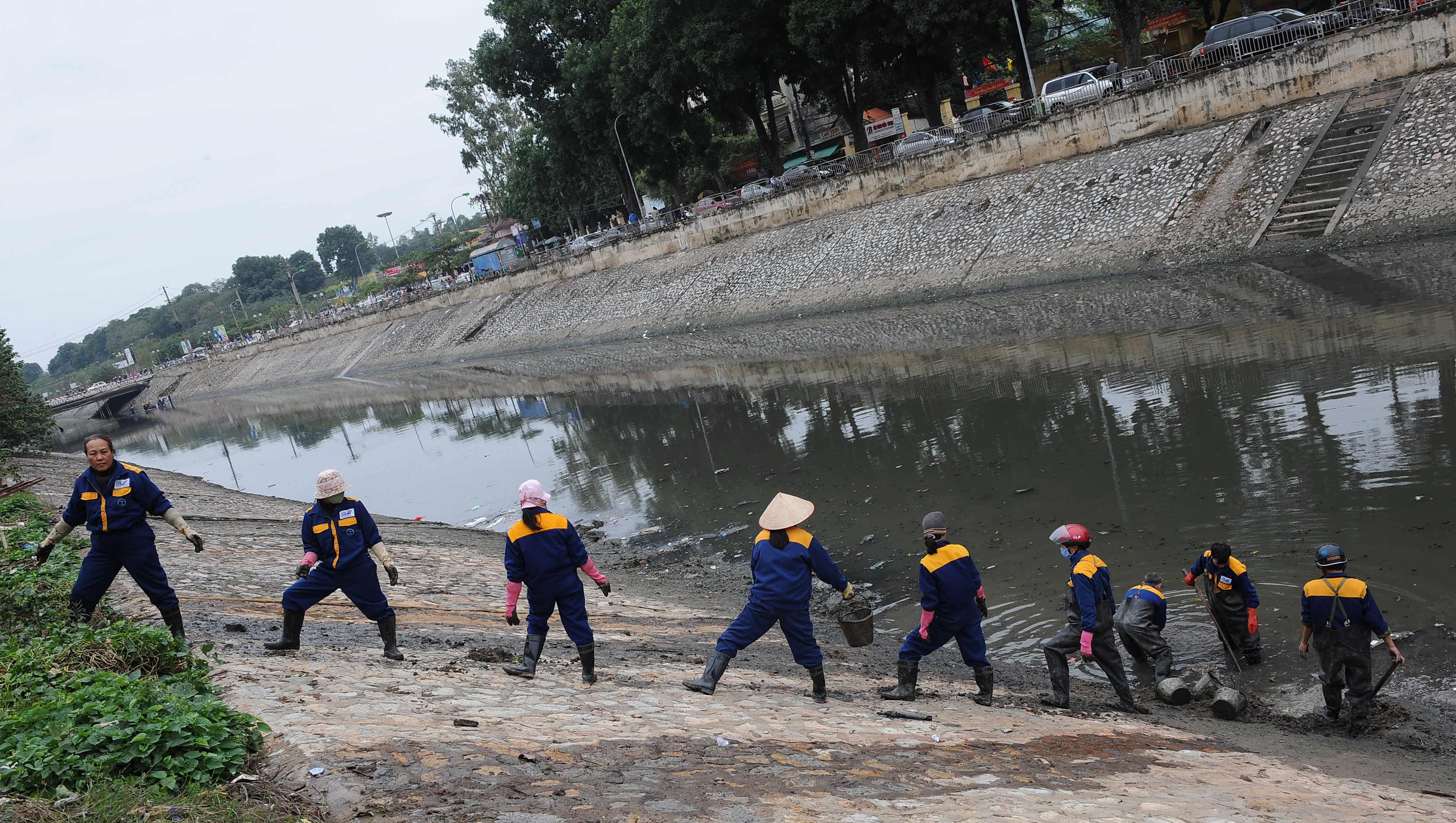 AFP photo. Ô nhiễm ...