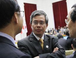 Thứ trưởng Bộ Ngoại Giao Phạm Quang Vinh, trưởng SOM ASEAN Việt Nam. Photo Quoc Viet, RFA