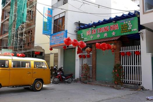Nhà hàng của người Trung Quốc ở Nha Trang. Ảnh chụp tháng 2 năm 2020.