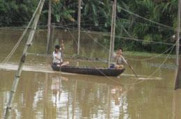 Vùng quê ngập lụt. RFA