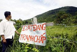 Một khu đất đang tranh chấp ở miền Nam đảo Phú Quốc vào năm 2004. AFP photo
