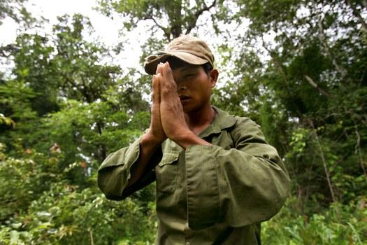 Ảnh minh họa. Người dân tộc thiểu số Tây Nguyên lánh nạn đến Campuchia. (Reuters)