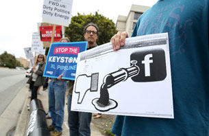 Trang mạng xã hội facebook bị chặn, ảnh minh họa.