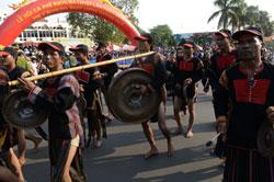 Lễ hội cà phê lần thứ 4 ở Buôn Ma Thuột, tỉnh Đắk Lắk vào ngày 09 tháng 3 năm 2013. AFP PHOTO.