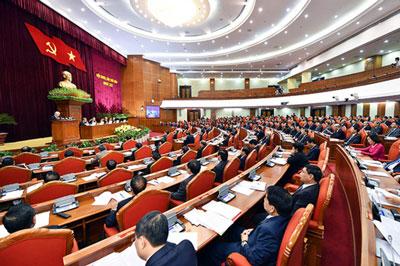 Hội nghị Trung ương 6 khoá XII, ngày làm việc thứ 2, hôm  5-10-2017 tại Hà Nội.