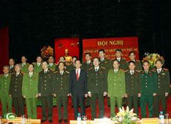 Thủ tướng Nguyễn Tấn Dũng tham dự Hội nghị Công an toàn quốc tại Hà Nội hôm 17/12/2012. Photo courtesy of chinhphu.vn
