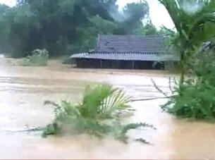 Hàng chục nghìn hộ dân dọc sông Ngàn Sâu bị ngập nước