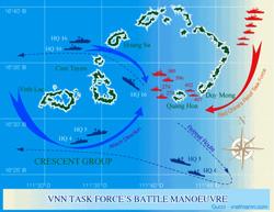 Sơ đồ trận hải chiến Hoàng Sa 1974 giữa VNCH-Trung Quốc- Wikimedia Commons photo