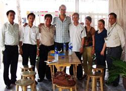 Các thành viên Khối 8406 đang tị nạn tại Bangkok. Hình do chị Thu Trâm cung cấp.