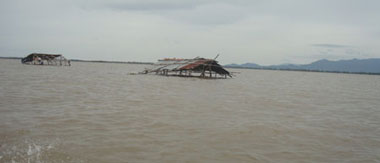 Một cánh đồng ở ĐBSCL tràn ngập nước lũ. Photo courtesy of Đất Việt.
