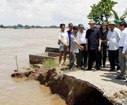 Thủ tướng chính phủ thị sát thiệt hại vì lụt tại Đồng Tháp- AFP photo
