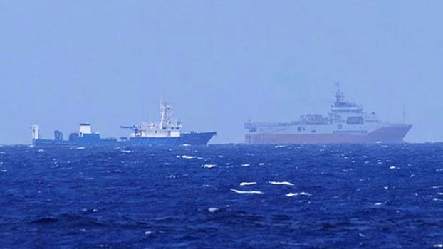 Nhóm tàu Hải Dương 8 của Trung Quốc trong vùng đặc quyền kinh tế Việt Nam.