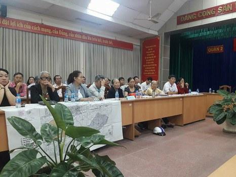 Quang cảnh buổi làm việc giữa UBND TP.HCM với người dân Thủ Thiêm vào ngày 7/11/2018.