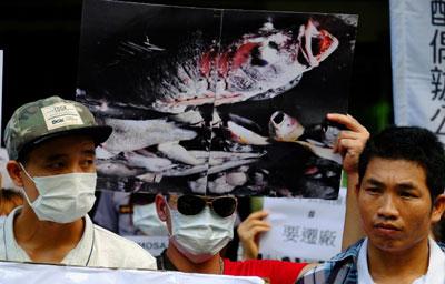 Lao động Việt tại Đài Loan biểu tình phản đối công ty Formosa hôm 10 tháng 8 năm 2016.