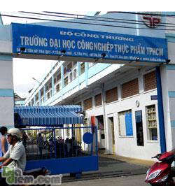 Trường Đại học Công nghiệp Thực phẩm, nơi SV Nguyễn Phương Uyên đang học. Photo courtesy of diadiem.com