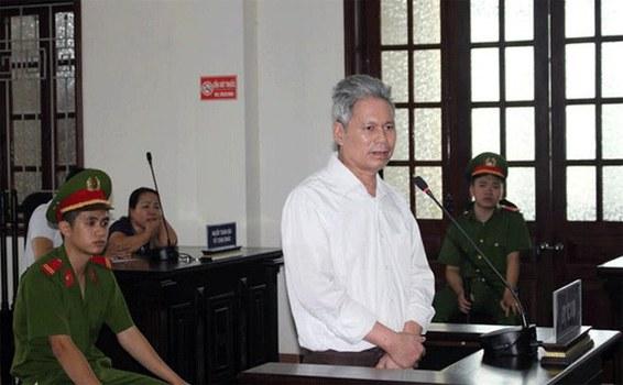 Thầy giáo Đào Quang Thực tại phiên tòa hôm 19/9/2018