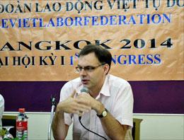 Ông Bent Gerht, Chủ tịch khu vực Đông Nam Á của tổ chức Worker Rights Connection. RFA