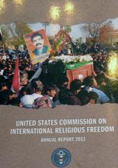 Bích chương về tự do Tôn Giáo tại buổi hội nghị. RFA