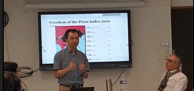 Ông Trịnh Hữu Long, Tổng biên tập Luật khoa tạp chí phát biểu tại hội thảo