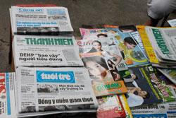 Một sạp báo ở Saigon. RFA photo