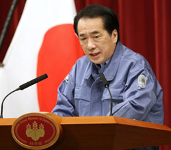 Thủ Tướng Nhật báo cắt điện-13 tháng 3. AFP photo