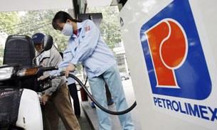 Một trạm bán xăng của Petrolimex ở Hà Nội