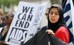 Một cuộc tuần hành bên ngoài trụ sở Liên Hiệp Quốc đòi hỏi các biện pháp ngăn chặn nạn dịch HIV/AIDS