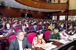 Các đại biểu tham gia Kỳ họp thứ nhất Quốc hội khóa XIII. Photo courtesy of chinhphu.vn