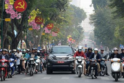 Giao thông ở Hà Nội. Ảnh chụp hôm 25 tháng 1 năm 2017.