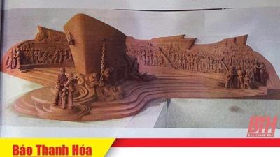 """Hình mẫu tượng đài mang tên """"Con tàu tập kết"""" ở tỉnh Thanh Hoá"""