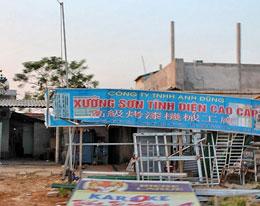 Một cơ sở sản xuất nhỏ của Trung Quốc ở Hà Tĩnh. RFA
