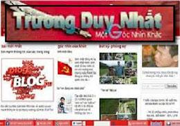 Trang blog của Trương Duy Nhất . RFA files